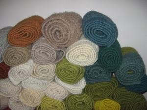 A closer sampling of the scarves
