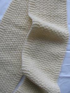 Cream white scarf