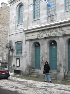 Outside le théâtre du Conservatoire
