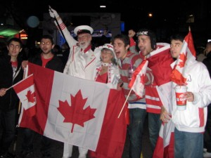 Downtown Vancouver during Olympics 2010