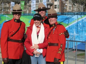 Lucky me with Canadian Mounties..