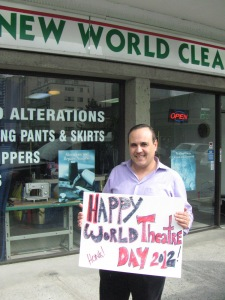 This guy wants a World Theatre Day parade!