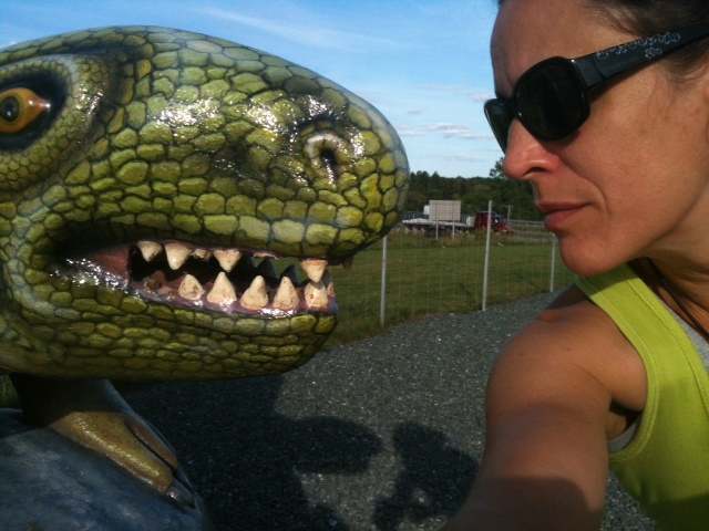 When in doubt be silly with a dinosaur... I think.