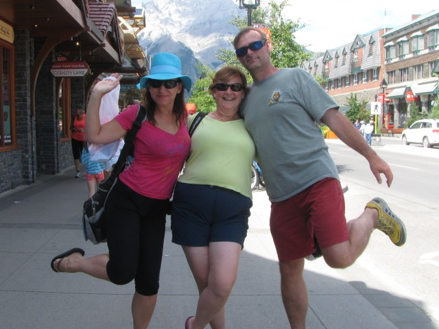Spontaneous buffoonery in Banff!